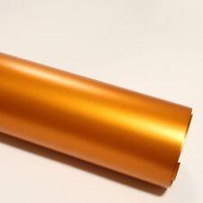 14,03€/m² 2x DIN A4 Selbstklebend Möbel Deko Folie Chrom Matt Orange