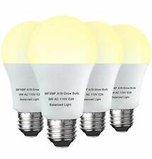 4 Pack Led Grow Light Bulb A19 Bulb Full Spectrum Plant Light Bulb 9w E26 Gro