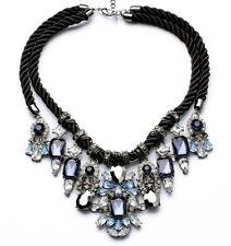 N735 Betsey Johnson Crystal Blue Rhinestone Wedding Accessories Necklace  AU