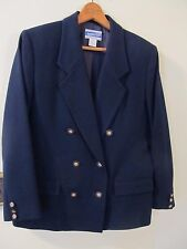 Pendleton Women's Size10 Blazer Blue Wool Double Breasted Gold Buttons Jacket