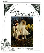 Sew Adorable Doll Clothes Pattern fits American Girl, Victoria's First Communion