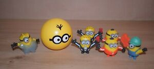 7 x Figures Minions Despicable Me Small Toys McDonald's 2019 Playset M04
