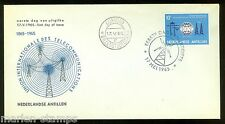 NETHERLAND ANTILLES   CENTENARY OF THE INT'L TELECOMMUNICATION UNION STAMP FDC