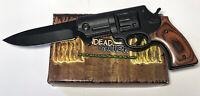 Tiger Undead Gasher German Gun 1065 Surgical Steel Folding Knife Lockback USA