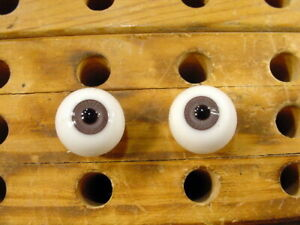 a pair vintage Glass Eyes size 18 mm age 1910 for dolls or bears Lauscha A 6238