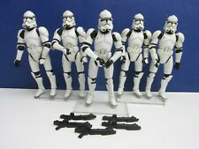 5 star wars PHASE II 2 CLONE TROOPER ACTION FIGURE lot set REVENGE OF THE SITH