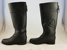 UK 5.5 - 6 Long black zipped riding boots show condition short wide fit FASTPOST