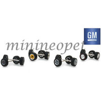 GREENLIGHT 13167 HOBBY EXCLUSIVE WHEELS & TIRES PACK SET 1/64 GENERAL MOTORS GM