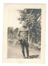 Vintage Photo Handsome Young Man Soldier Antique R26