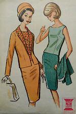 Vtg 1960s Womens' Suit  Blouse Slim Skirt Jacket  McCall's 7172  Bust 36