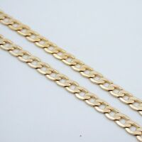 "9"" 7MM MENS GOLD EP CUBAN LINK BRACELET"