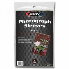 1 Pack 100 Bcw 6x9 Photo Soft Poly Sleeves Acid Free Print Holder Archival