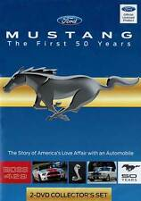 Mustang The First 50 Years 2 Disc DVD Ford 2-1/2 hours! automobile Halderman