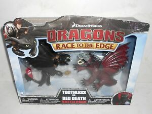 Spin Master 2016 DreamWorks Dragons: TOOTHLESS vs. RED DEATH HTTYD (Damaged Box)