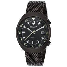 Bulova Accutron Black Stainless Steel Mens Watch 98B247