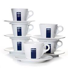 Lavazza Cappuccinotassen Kaffee-Tassen mit Untertassen Blu Collection 6er Pack