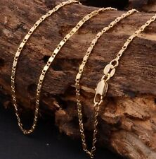 "24"" 2mm Gold Plated Necklace Flat Anchor Chains UK Seller Free P&P"