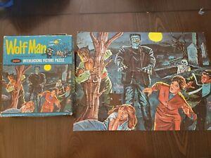 Vintage Universal Monsters Wolfman Jaymar Puzzle 1963  Beautiful -1 peice