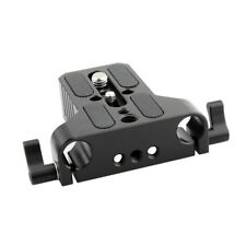 NICEYRIG Camera Baseplate 15mm Rod Clamp For DSLR 15mm Rail Block Support System