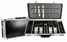 Common Wealth Barber Stylist Lock Case Organizer Clippers Trimmers Tools Black
