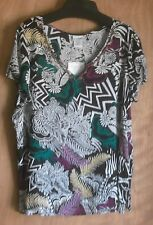 Women's L V neck top with beads