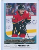 17/18 UPPER DECK YOUNG GUNS ROOKIE RC #218 RASMUS ANDERSSON FLAMES *53950