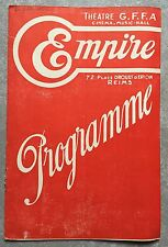 Programme EMPIRE Reims LES PETITES ALLIEES Madeleine Renaud ANNE-MARIE 1936
