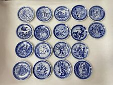 Lot Of 18 Hans Christian Anderson Mini Plates By Royal Copenhagen Denmark