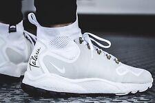 Nike Zoom Talaria Mid Flyknit 856957-100 Bianco Platino Puro Taglia UK 10 EU 45