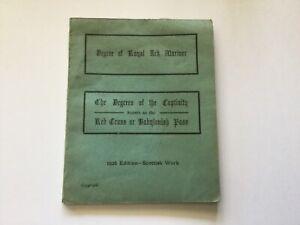 DEGREE OF ROYAL ARK MARINER - DEGREE OF THE CAPTIVITY 1926 - SCOTTISH WORK
