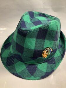 Chicago Blackhawks SGA Hat ST PATRICK'S DAY Fedora Hat One size fits most