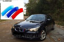 BMW 5 Series E60 E61 Kidney Grill 3 Color Plastic Cover M Stripe Clip 2003-10