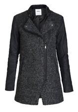 ONLY Damen Wollmantel Mantel Jacke onlPIPER LONG WOOL BIKER Coat Jacket Übergang