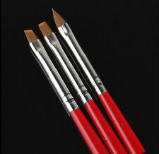 3 pcs Acrylic UV Gel Painting Polish Brush Pen Dotting Nail Art Tool Set AU