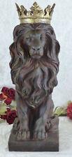 König der Löwe Skulptur Figur Tierfigur Lion Raubkatze Deko Statue Gartenfigur