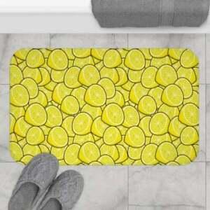 Sour Lemon Pattern Bath Mat | Kitchen Mat, Indoor Mat, Laundry Mat
