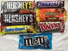 Lot Of 70 Candy Bar Chocolate Reeses Pieces Twix M&M Snickers Hersheys Dark