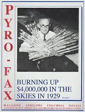 April 1993 Pyro Fax Fireworks Magazine Vol. #4 Issue #2