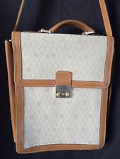 """DIOR vintage authentic tan luggage shoulder map carry on travel shoulder bag 14"""""""