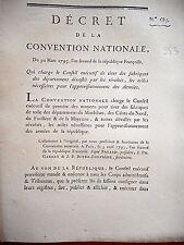 353 LOI & DECRET CONVENTION NATIONALE 1793 FABRIQUE DE TOILE BRETAGNE MAYENNE