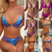 Sexy Women Padded Bra Top Underwear Bikini Set Thong Lingerie Swimwear Swimsuit