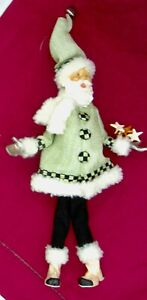 Mackenzie Childs ~ Home Sweet Snow  ~  Santa Elf ~ Green ~ BNIP