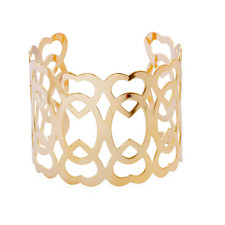 Cuff Bangle Wristband Wide Bracelet Open Gold Plated Creative Hollow Love Heart