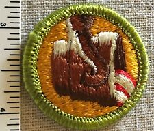 Boy Scouts METALLURGY Merit Badge PATCH Scout PLASTIC BACK Metal Engineering