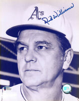 DICK WILLIAMS SIGNED 8x10 PHOTO OAKLAND A'S WORLD SERIES MANAGER BECKETT BAS