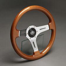 Holzlenkrad Sportlenkrad Holz Chrom 330mm VW Golf Cabrio Polo Caddy Jetta Passat