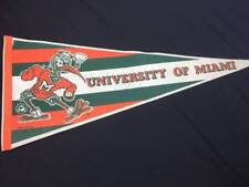 Vintage University of Miami Pennant HURRICANES Ibis Full Size Felt