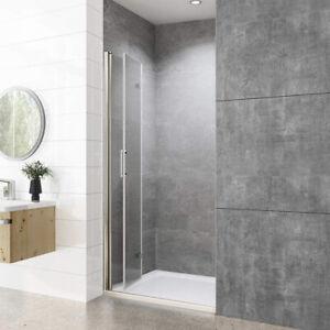 Nischentür Dusche 90 Falttür Duschabtrennung NANO Glas Duschwand Faltbar Glastür