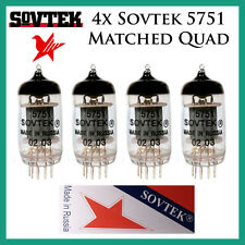 New 4x Sovtek 5751 | Matched Quad / Quartet / Four Tubes | Free Shipping