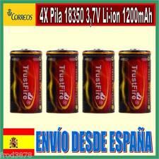 4X PILA RECARGABLE 18350 1200mAh Li-ion 3,7V TrustFire Litio Batería Protección